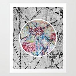 Crossroads No.3 - black and white Art Print