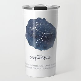 Sagittarius Constellation and Zodiac Traits, Star Sign Travel Mug