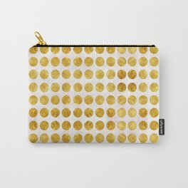Gold Dots Carry-All Pouch