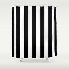 Vertical Stripes (Black/White) Shower Curtain