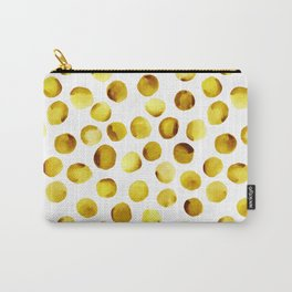 Watercolor Dots // Goldenrod Carry-All Pouch
