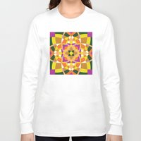 quilt Long Sleeve T-shirts featuring Geo quilt by Little Things Studio