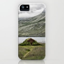 Tiny House on a Fjord - Iceland iPhone Case