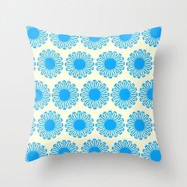Vintage Flower_Turquoise Throw Pillow