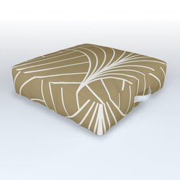Diamond Series Inter Wave White on Gold Outdoor Floor Cushion