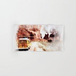 Bus Road Trip Abstract Hand & Bath Towel