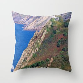 Lighthouse, Donostia-San Sebastian. Throw Pillow
