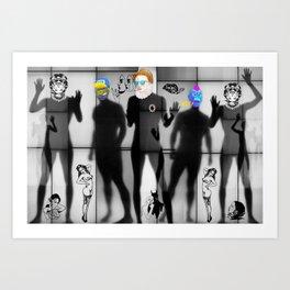 Body Language 75 Art Print