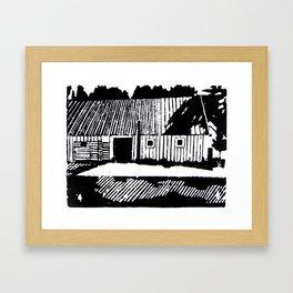 Gamla Uppsala Framed Art Print