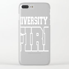 University Of Fire Clear iPhone Case