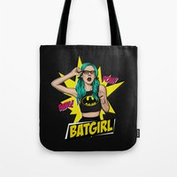 batgirl Tote Bags featuring Batgirl by viviennart