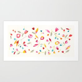 Flower Net Art Print
