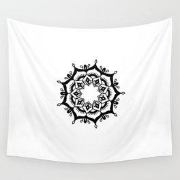 Mandala: hand-drawn Wall Tapestry