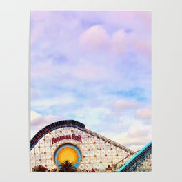 Paradise Pier at California Adventure Poster