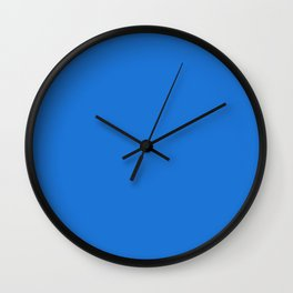 Simply Solid - Bright Navy Blue Wall Clock