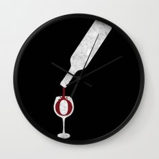 Wine-O (black) Wall Clock