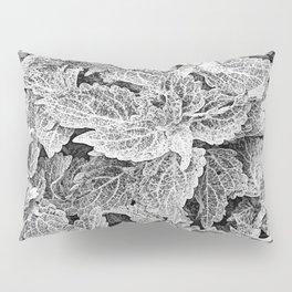 coleus black and white Pillow Sham