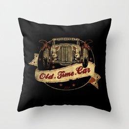 Old Time Car Hot Rod Throw Pillow