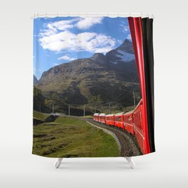 View from the Bernina Express Shower Curtain
