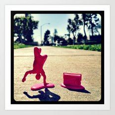 Breakdancing on a sunny day. Art Print