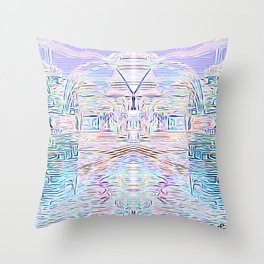 Light Cities of the New World Throw Pillow
