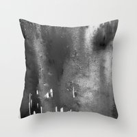 bleach Throw Pillows featuring Bleach B&W by Sparky