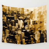 chicago Wall Tapestries featuring Chicago by DM Davis