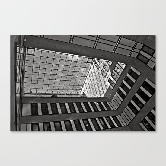 Modern Hamburg office building Canvas Print