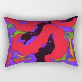 Meander red Rectangular Pillow