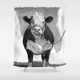 Welcome to the Pasture Shower Curtain