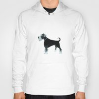 schnauzer Hoodies featuring Schnauzer by Cathy Brear