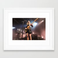 haim Framed Art Prints featuring HAIM by Adam Pulicicchio Photography