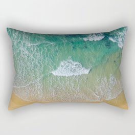 Ocean from the sky Rectangular Pillow