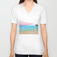 ship V-neck T-shirts featuring ship by ONEDAY+GRAPHIC