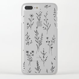 New Wildflowers Clear iPhone Case