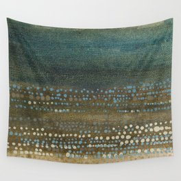 Landscape Dots - Night Wall Tapestry