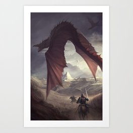 Dragon Chaser Art Print