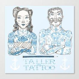 Taller Tattoo Canvas Print