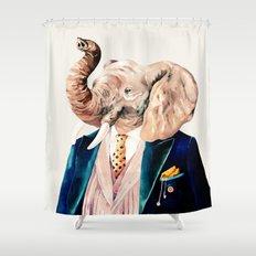 Elephant Cream Shower Curtain