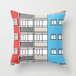 Edificio Canaima -Detail- Throw Pillow