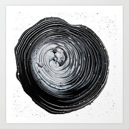 The Hole (Black and White) Art Print