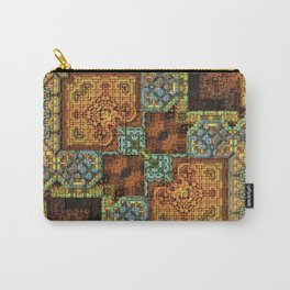 Patchwork Pattern Carry-All Pouch