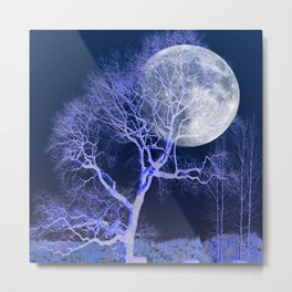 The Moon and The Tree Metal Print