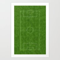 soccer Art Prints featuring Soccer by Dino cogito