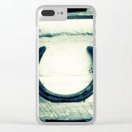 Horse shoe Clear iPhone Case