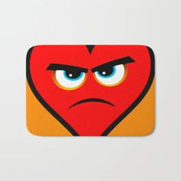 Heart Series Love Angry Hearts Love Valentine Anniversary Birthday Romance Sexy Red Hearts Valentine Bath Mat