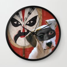 Kabooki Pooch in training Wall Clock