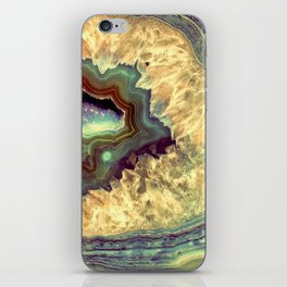 Colorful Earth Tones Quartz Crystal iPhone Skin