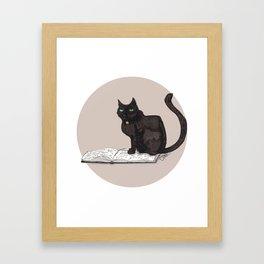 Feeling Bookish Framed Art Print