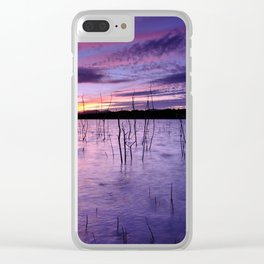 Purple waters Clear iPhone Case